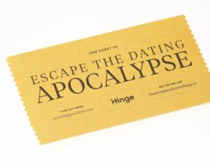 Hinge apocalypseticket front